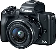 Canon EOS M50 Mirrorless Camera Kit w/EF-M15-45mm and 4K Video (Black) (Renewed)