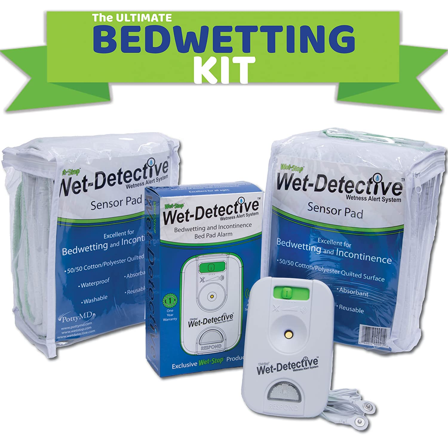 amazon com wet detective bedwetting kit incontinence bedwetting