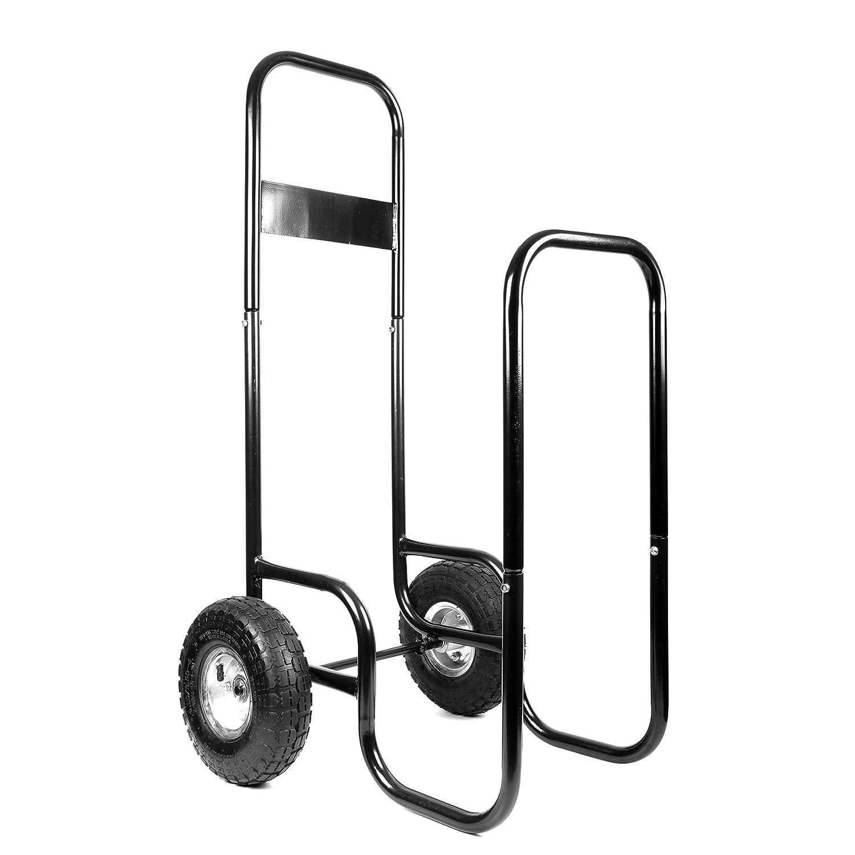Jardiaffaires Chariot Porte b/ûches 150Kg avec Housse de Protection