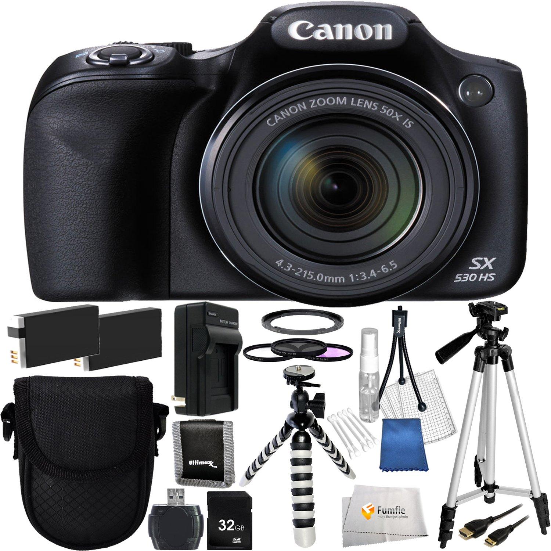 Canon sx530 HS – インターナショナルバージョン保証(no) + 32 GB SDメモリカード+高速カードリーダー+フィルタアダプターリング+フィルターキット+ 2拡張Life交換用電池+ 50