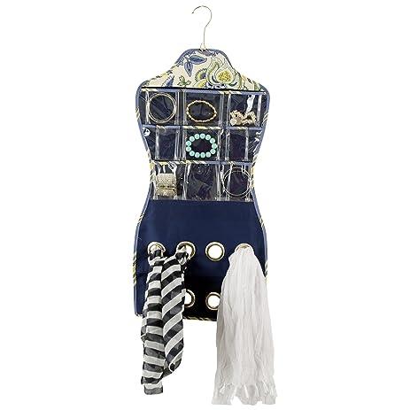Amazoncom Waverly Hanging Cloth Jewelry Accessory Organizer Home