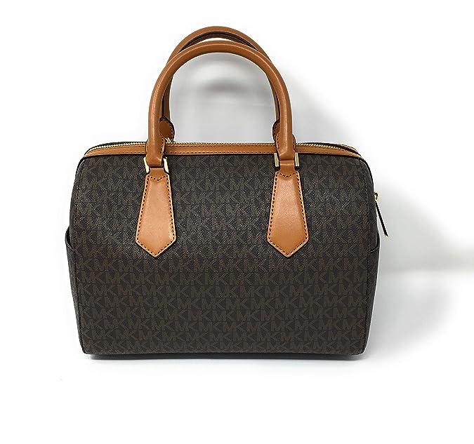 e15ee09d5f73 Amazon.com: Michael Kors Hayes Large Duffle Satchel Bag Brown MK Signature:  Shoes