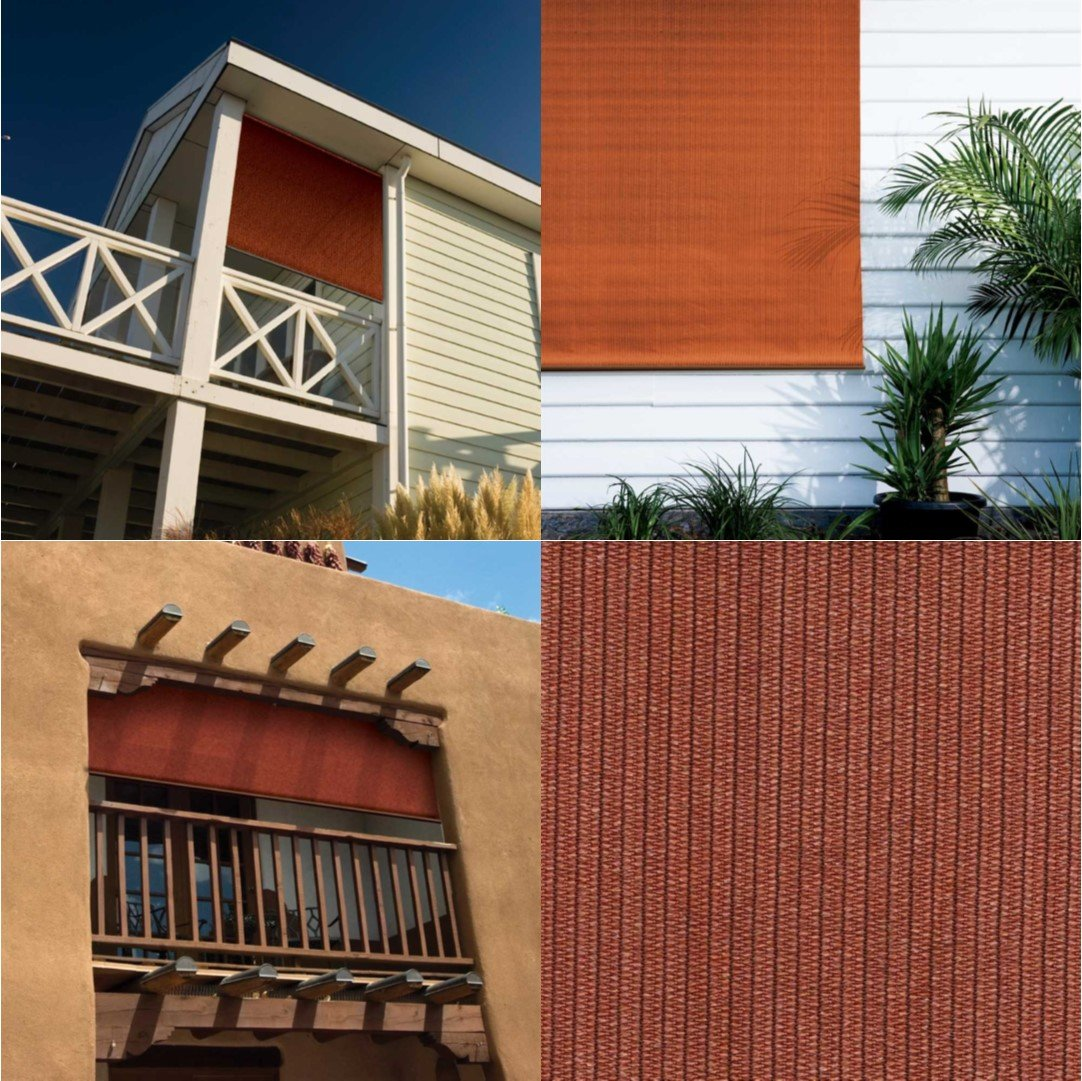 Coolaroo Outdoor Cordless Roller Shade 8ft By 6ft Terracotta 799870462000 Ebay