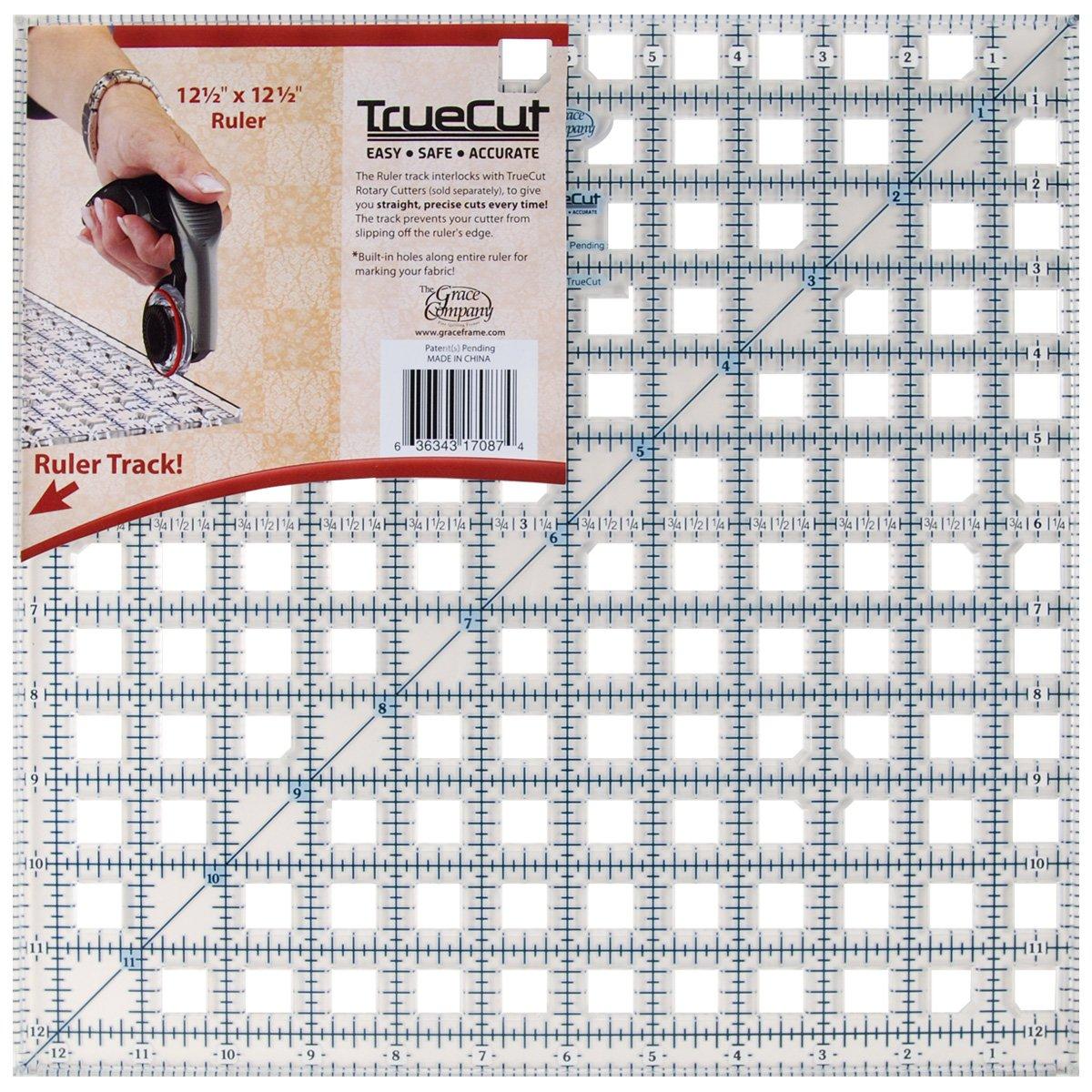 Grace Company 12 1/2 x 12 1/2-inch TrueCut Ruler TC17087