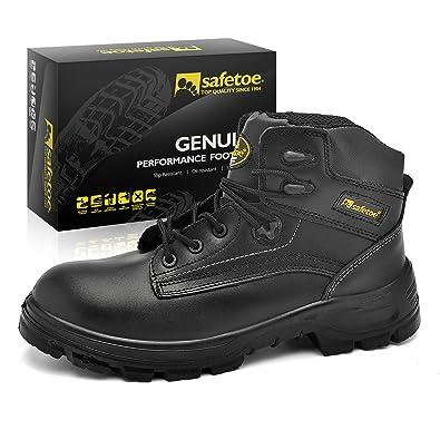 Zapatos de Seguridad Casuales para Hombres - Safetoe 8356B Zapatos Trekking Hombre Diadora Comodos de Piel Color Negro Resistencia al desgaste Compra con descuento En venta Precio barato j811Rz