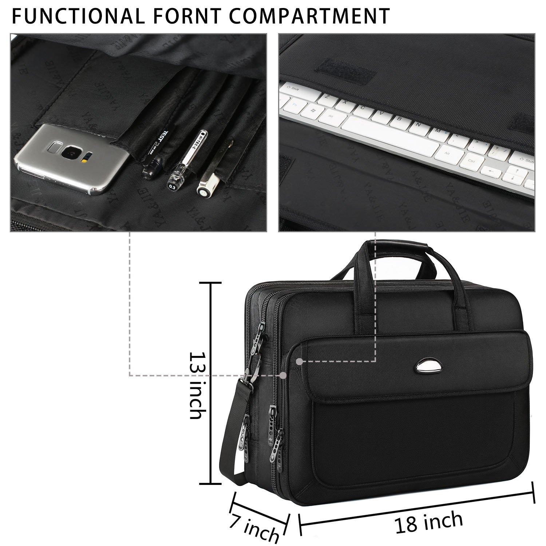 Computer Ultrabook-Black volher Tablet Notebook Expandable Large Hybrid Shoulder Bag Water Resisatant Carrying Case Fits 15.6 Inch Laptop Business Travel Bag for Men Women 17 inch Laptop Bag
