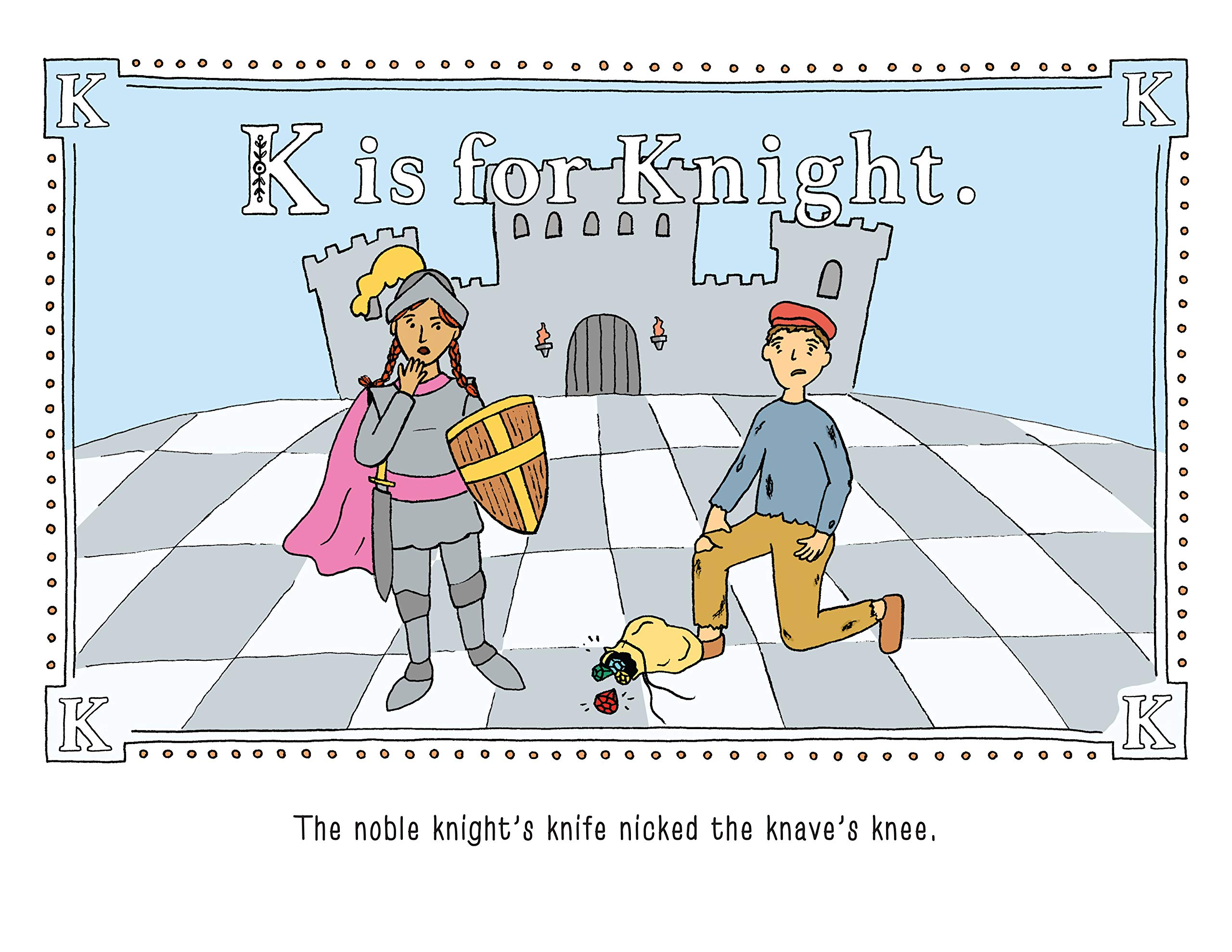 K is for Knight page