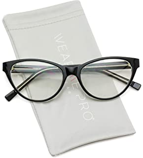 bf2aab62de Amazon.com  WearMe Pro - Non-Prescription Cat Eye Clear Lens Glasses ...