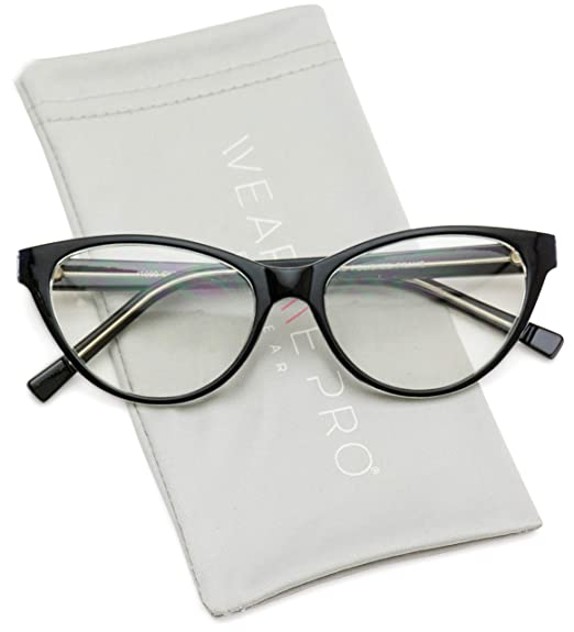7b16d687ee5 Image Unavailable. Image not available for. Color  WearMe Pro - Clear Lens  Cat Eye Glasses for Women