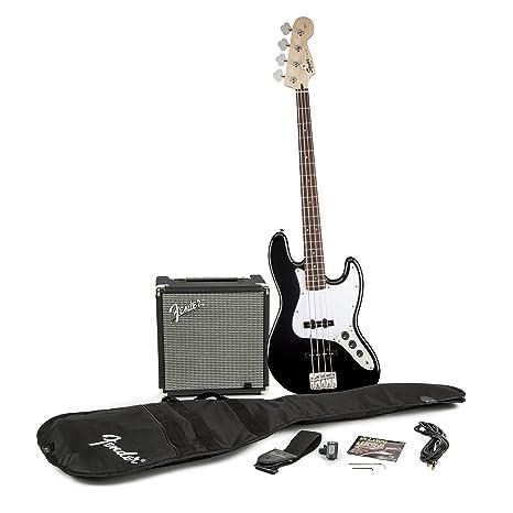 Squier por Fender J principiante Bass guitarra acústica, color ...
