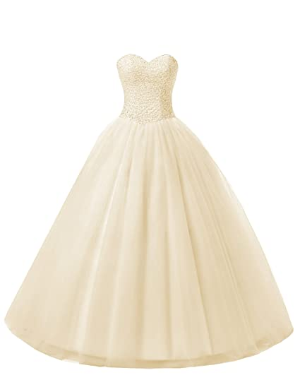 Beautyprom Womens Ball Gown Bridal Wedding Dresses At Amazon