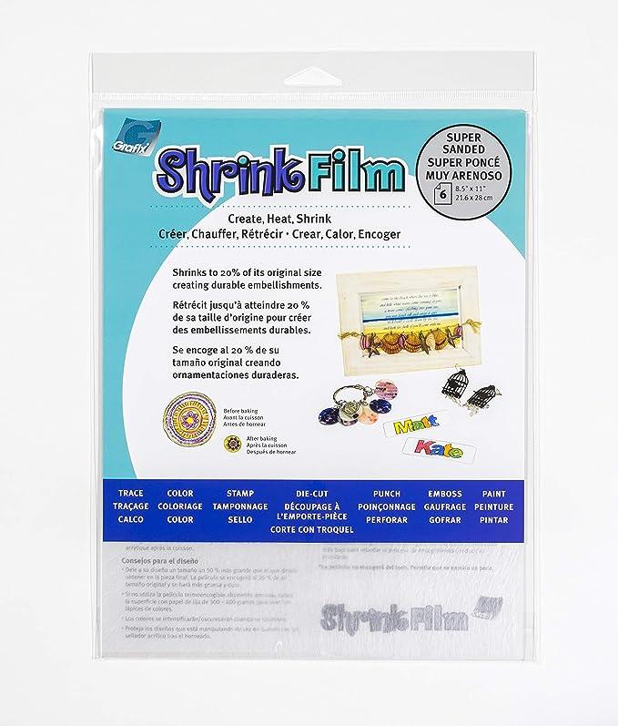 """Shrink Film 8.5/""""X11/"""" 6//Pkg Super Sanded 096701144327"""