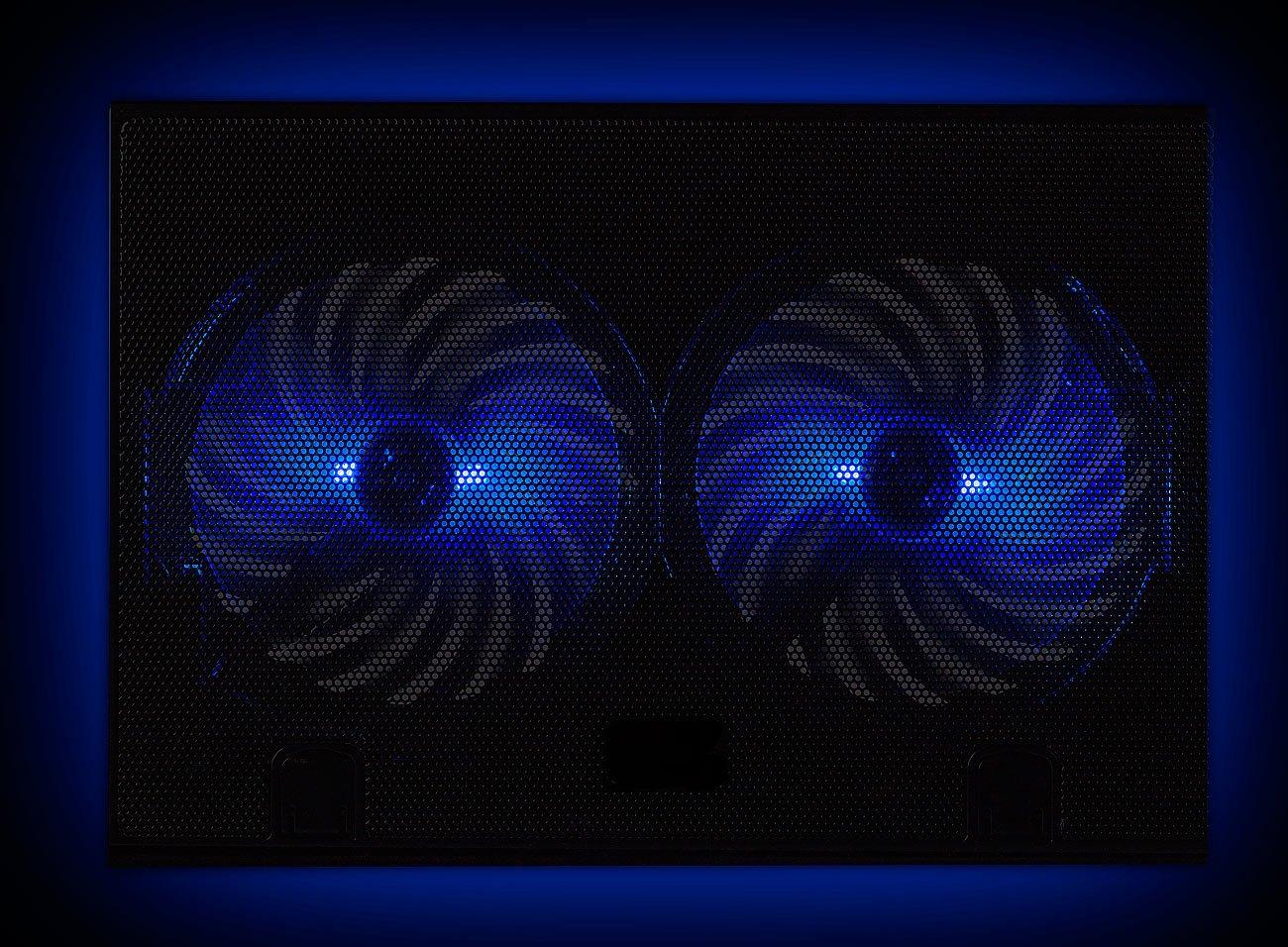 15 dB 2 L/üfter Callstel Ultraleiser Laptop-K/ühler bis 43,8 cm LED 17