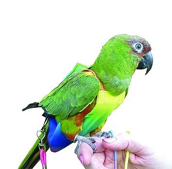 leash Parrot Bird Flight Suit Kit with Liners /& Lanyard