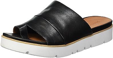 Kenneth Cole Gentle Souls Women's Lavern Leather Platform Slide Sandals 6xCGY