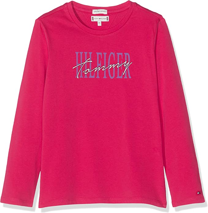 Tommy Hilfiger Essential Graphic Tee L//S T-Shirt Fille