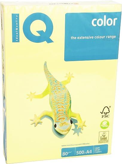 IQ 130114 - Pack de 500 hojas de papel multifunción color, A4, 80 ...