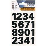 HERMA étiquettes á chiffres 0-9, (H)25 mm, film transparent