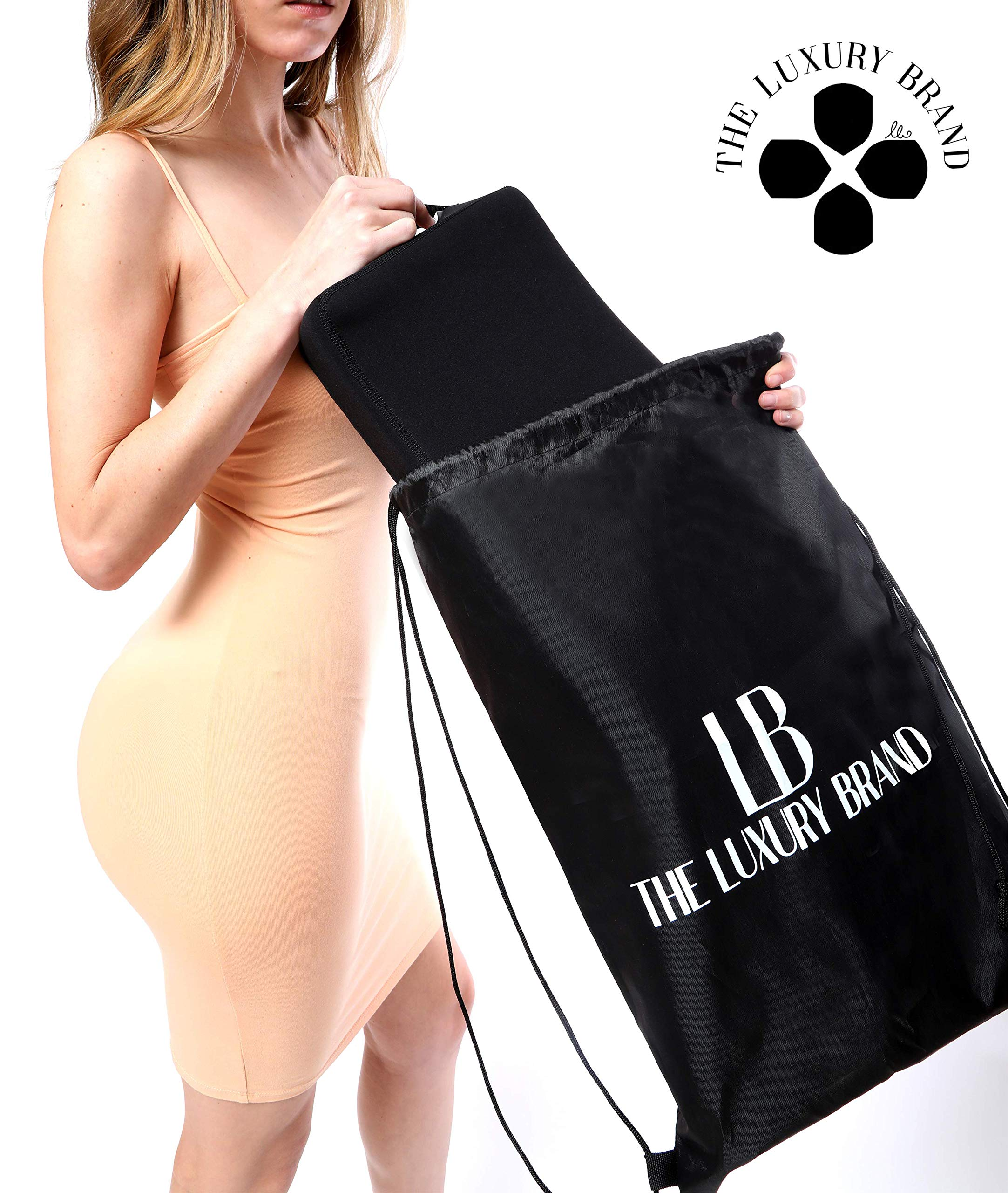 The Original Luxury BBL Booty Pillow for Post Recovery Brazilian Butt Lift: Premium & Comfortable Post Recovery Pillow - After Surgery Pillows for Buttocks + Cushion Cover/Drawstring Bag