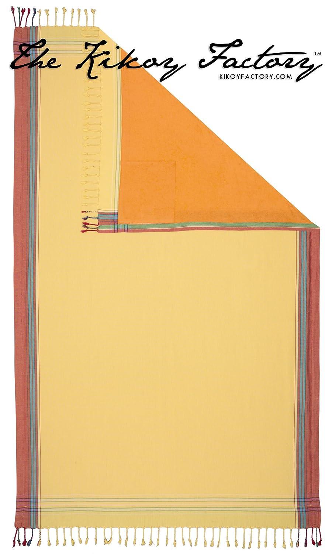 Kikoy Factory - Toalla de playa / Pareo - Toalla de baño - Kikoy Towel 13226V1 - Color : Sun - Tamaño : 95 x 165 cms: Amazon.es: Hogar