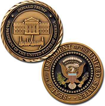 Latest Donald Trump Make America Great 45th President Challenge Coin CA