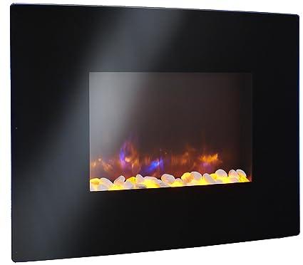 Amazon Com Greatco 36 Gallery Radius Linear Electric Led Fireplace