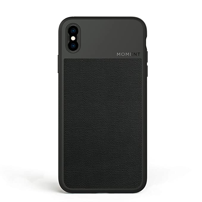 on sale 89564 89d80 iPhone Xs Max Case || Moment Photo Case in Black Canvas - Thin, Protective,  Wrist Strap Friendly case for Camera Lovers.