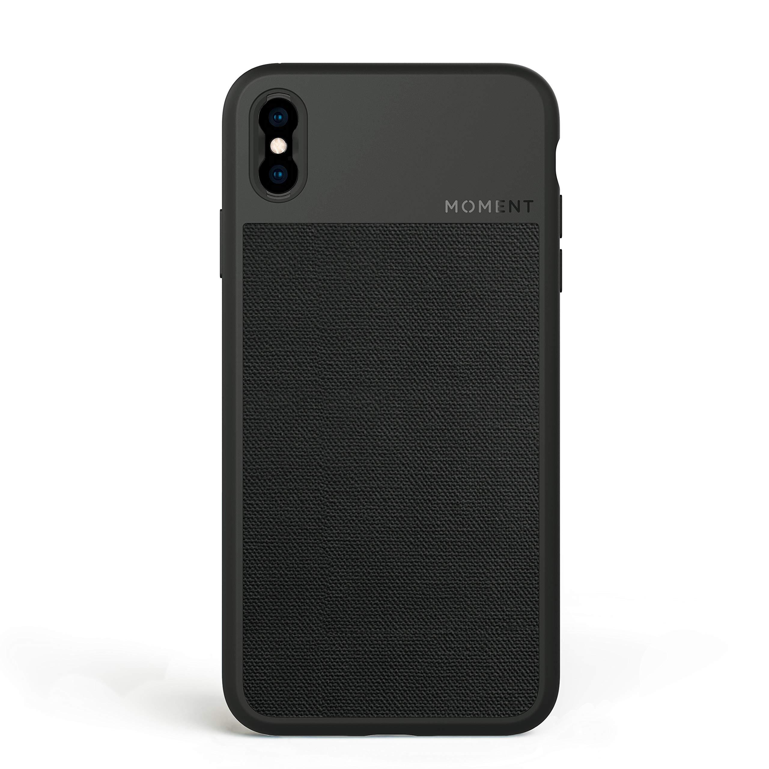 ویکالا · خرید  اصل اورجینال · خرید از آمازون · iPhone Xs Max Case    Moment Photo Case in Black Canvas - Thin, Protective, Wrist Strap Friendly case for Camera Lovers. wekala · ویکالا