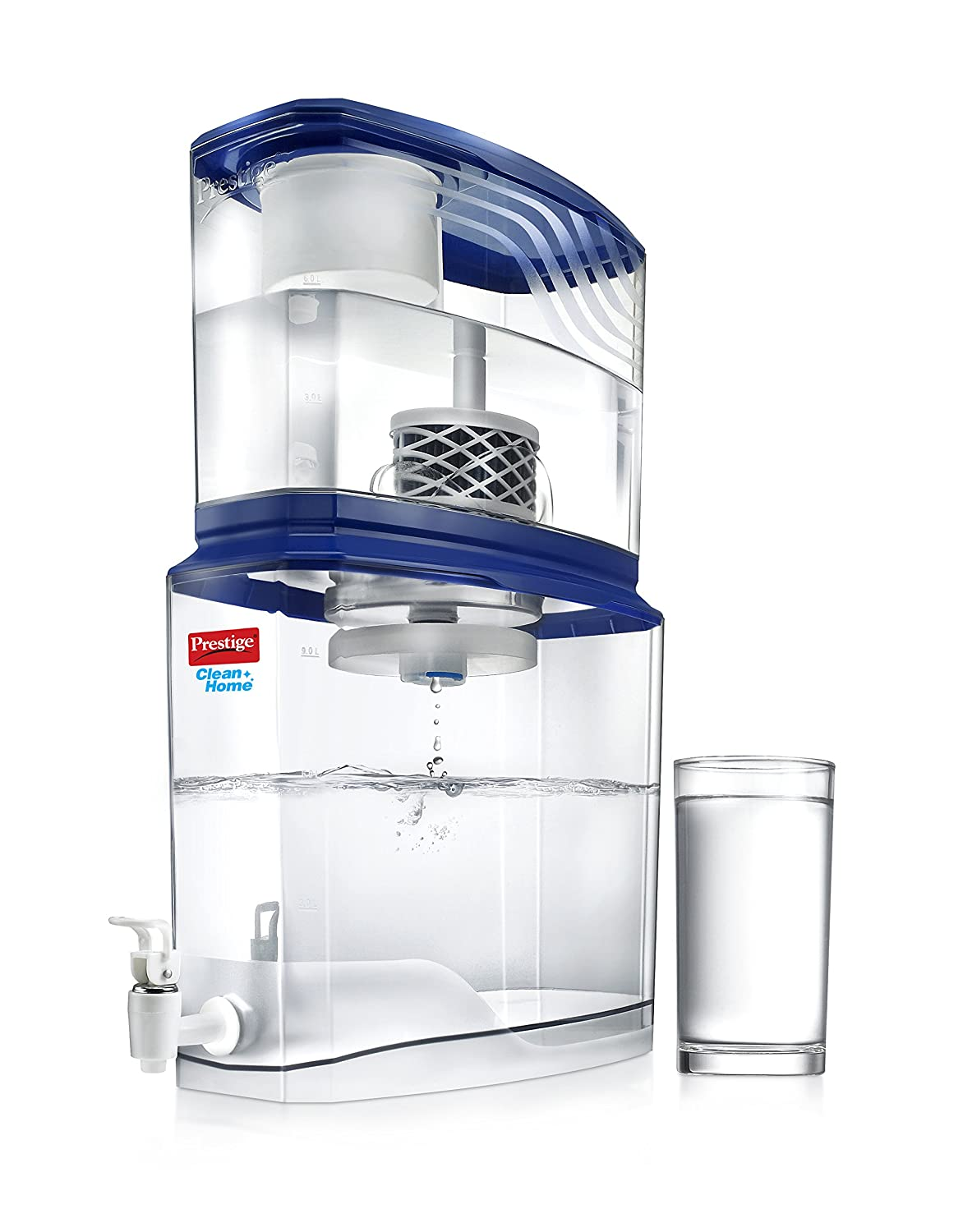 Prestige Non-Electric Acrylic Water Purifier PSWP 2.0, 18 L