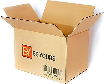 BeYours Pack de 20 Cajas de Cartón - 430 x 300 x 250 mm - DISPONIBLE EN VARIOS TAMAÑOS - Fabricadas en España - Canal Simple de Alta Calidad Reforzado ...