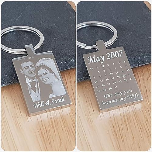 11th Anniversary Gift Steelmetal Personalised Engraved Photo