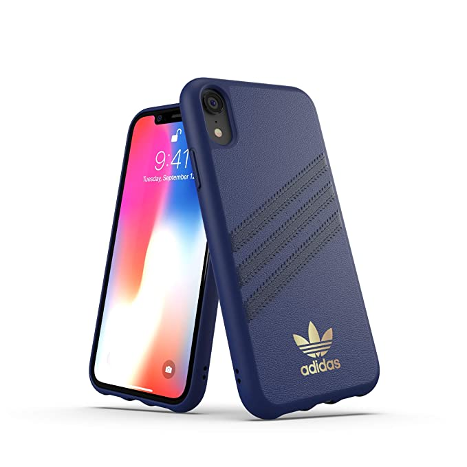 54314725f45c Amazon.com  adidas Originals Moulded Case Samba iPhone XR - Blue ...
