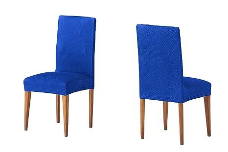 Sedie Blu Elettrico : Martina home federe per sedia coprisedia con schienale 24x30x6 cm