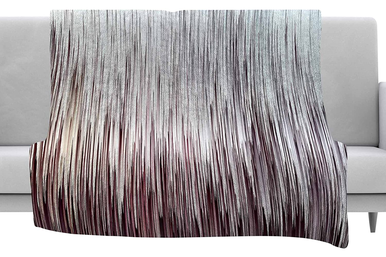 Kess InHouse Ginkelmier Planet Pixel Rose Pink White Digital Throw 40 x 30 Fleece Blanket