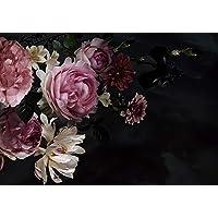 wandmotiv24 Fotobehang Bloemen bloeit roze XS 150 x 105 cm - 3 delen Fotobehang, muurschildering, motiefbehang…