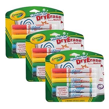 Crayola - Pizarra de borrado en seco Marcadores de lavable, amplia ...