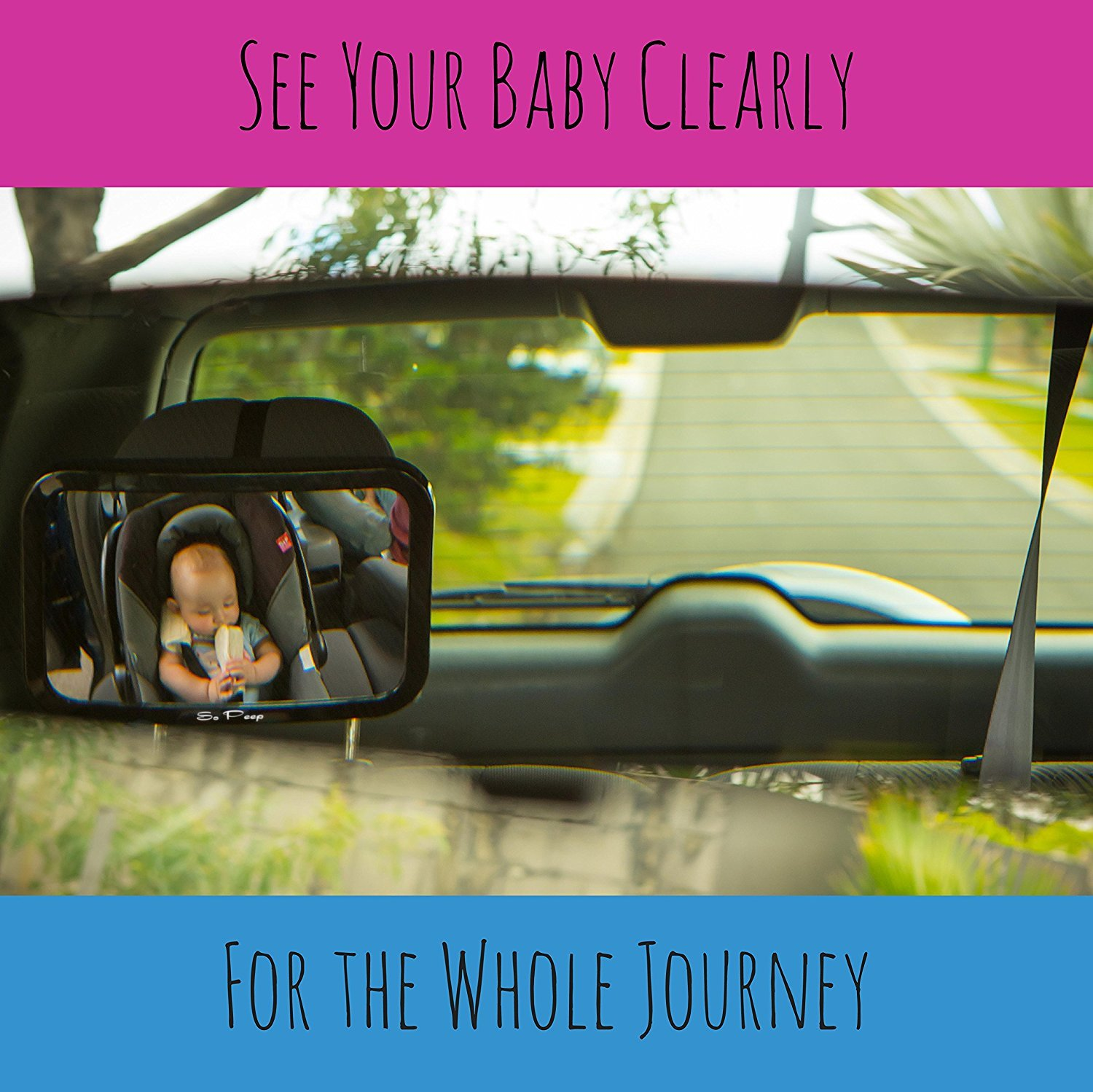 My only thing would be that i probably would have made the mirror - Amazon Com Baby Backseat Mirror For Car View Infant In Rear Facing Car Seat 100 Lifetime Satisfaction Guarantee Best Newborn Safety With Secure