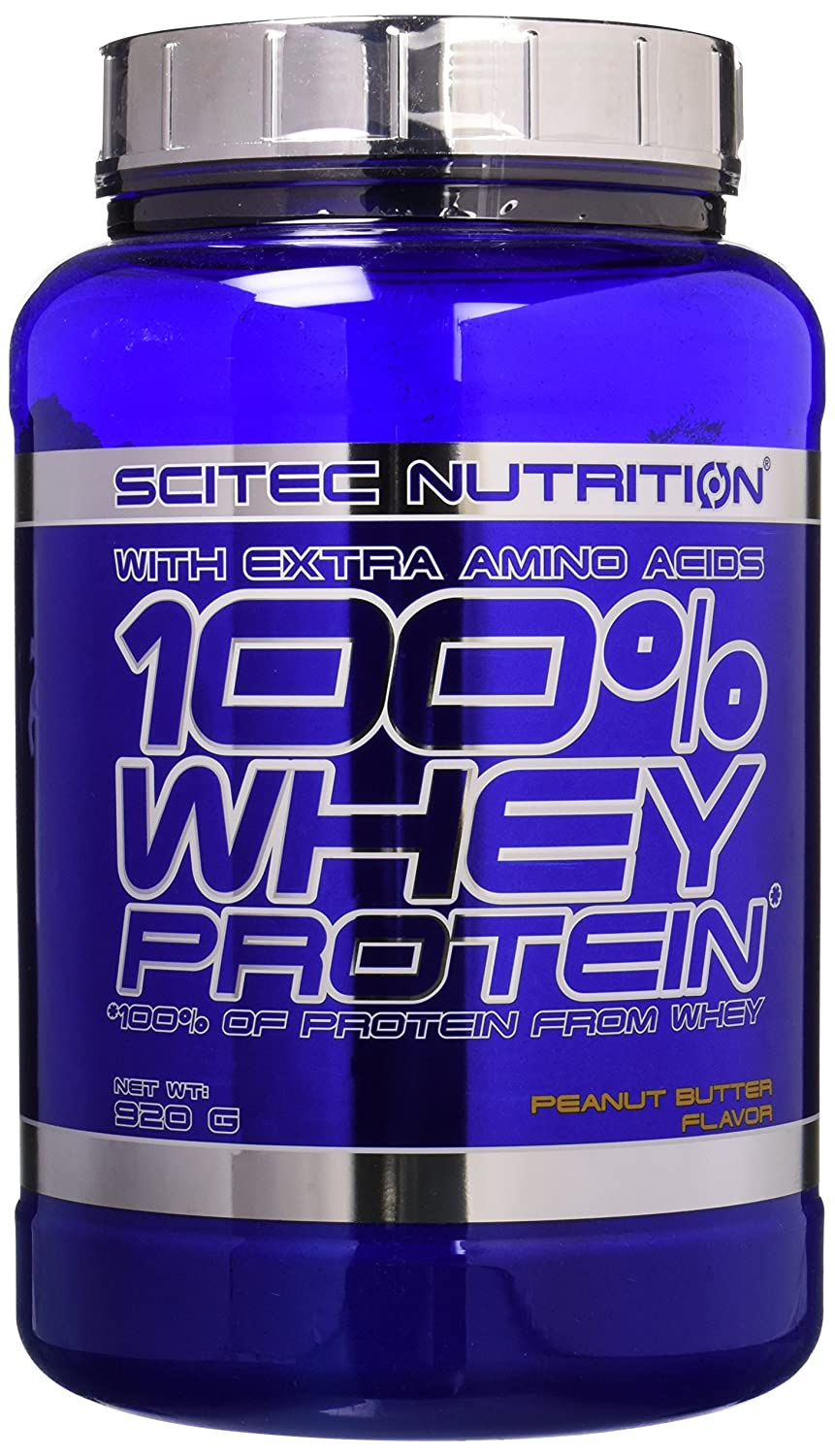 Amazon.com: 100% whey protein - 2 lbs - Peanut Butter - Scitec nutrition: Health & Personal Care