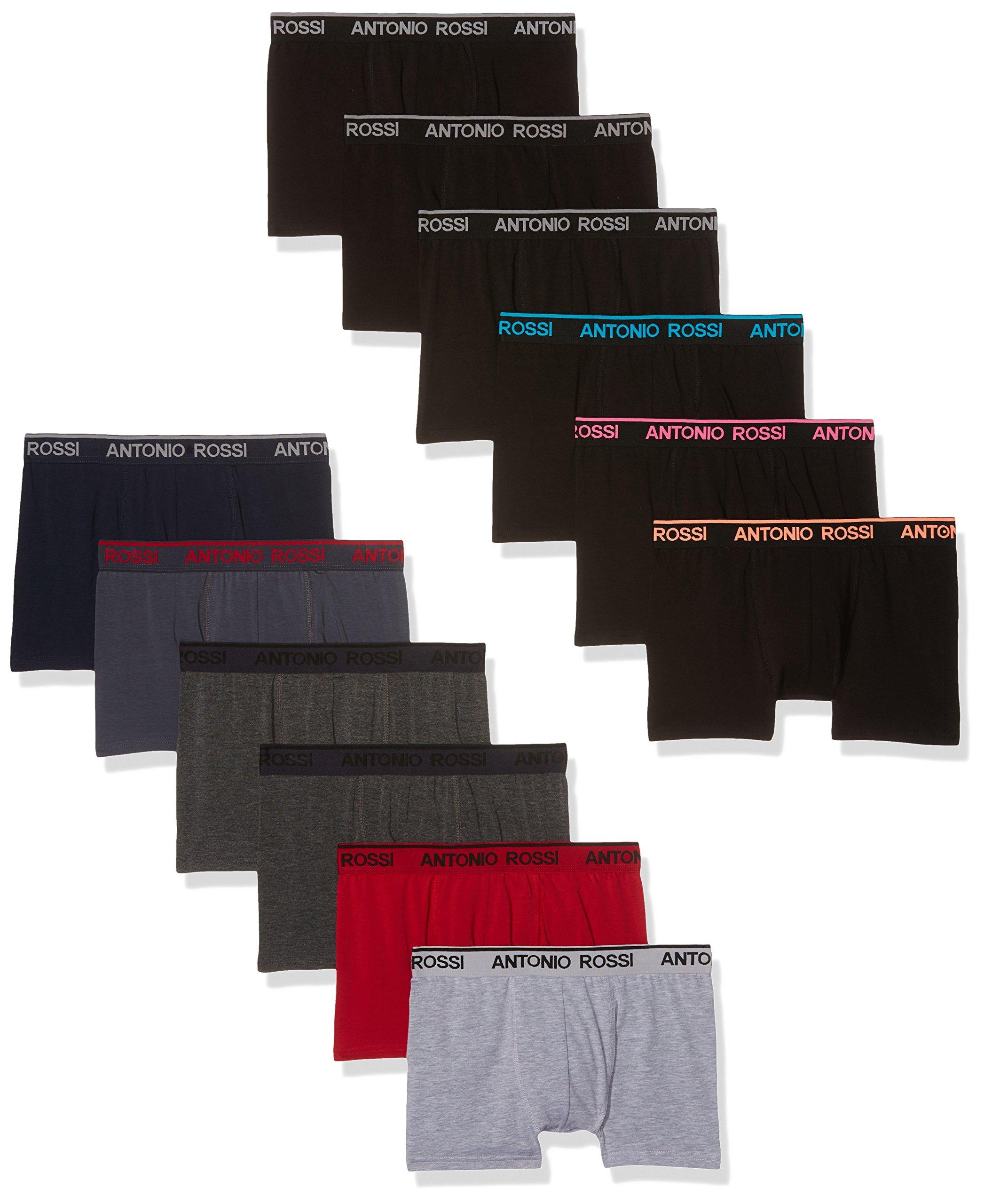 FM London Boxer Hipster Premium riches en coton, muni de malles, Sous vêtements pour Hommes - Lot de 12