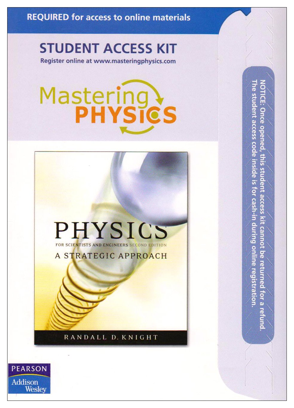 MasteringPhysics™: for Physics for Scientists and Engineers- A Strategic Approach (ME component), 2nd Edition pdf
