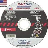 "50 Pack Sait 22021 4-1//2/"" x .045/"" x 7//8/"" Type 27 A60S Metal Cut-Off Wheels"