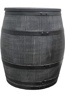 Hero Regentonne Weinfass Wasserspeicher Eichenfass Wassertonne Aus  Kunststoff 50 Liter