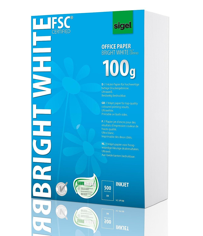 Sigel IP150 InkJet-Papier A4 ultraweiß, beidseitig bedruckbar, 100 g ...