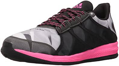 new concept e17b1 3f1b7 adidas Women's Gymbreaker Bounce Cross-Trainer Shoe, Black/Shock Pink Mid  Grey S