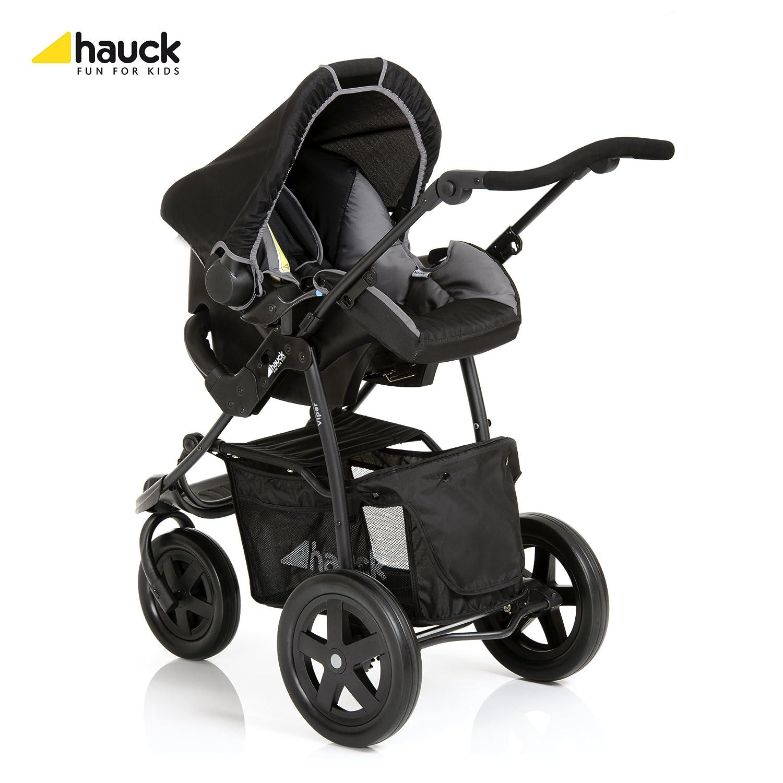 color negro//gris Hauck Viper Trio Set Carrito deportivo con capazo y grupo 0+