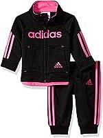 adidas Baby Girls' Zip Jacket and Pant Set