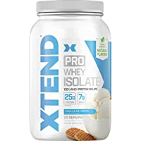 Xtend Pro Protein Powder Vanilla Ice Cream | 100% Whey Protein Isolate | Keto Friendly + 7g bcaas With Natural Flavors…