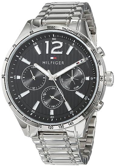 Tommy Hilfiger Reloj Multiesfera para Hombre de Cuarzo con Correa en Acero  Inoxidable 1791469  Amazon.es  Relojes 8af54a4936e6