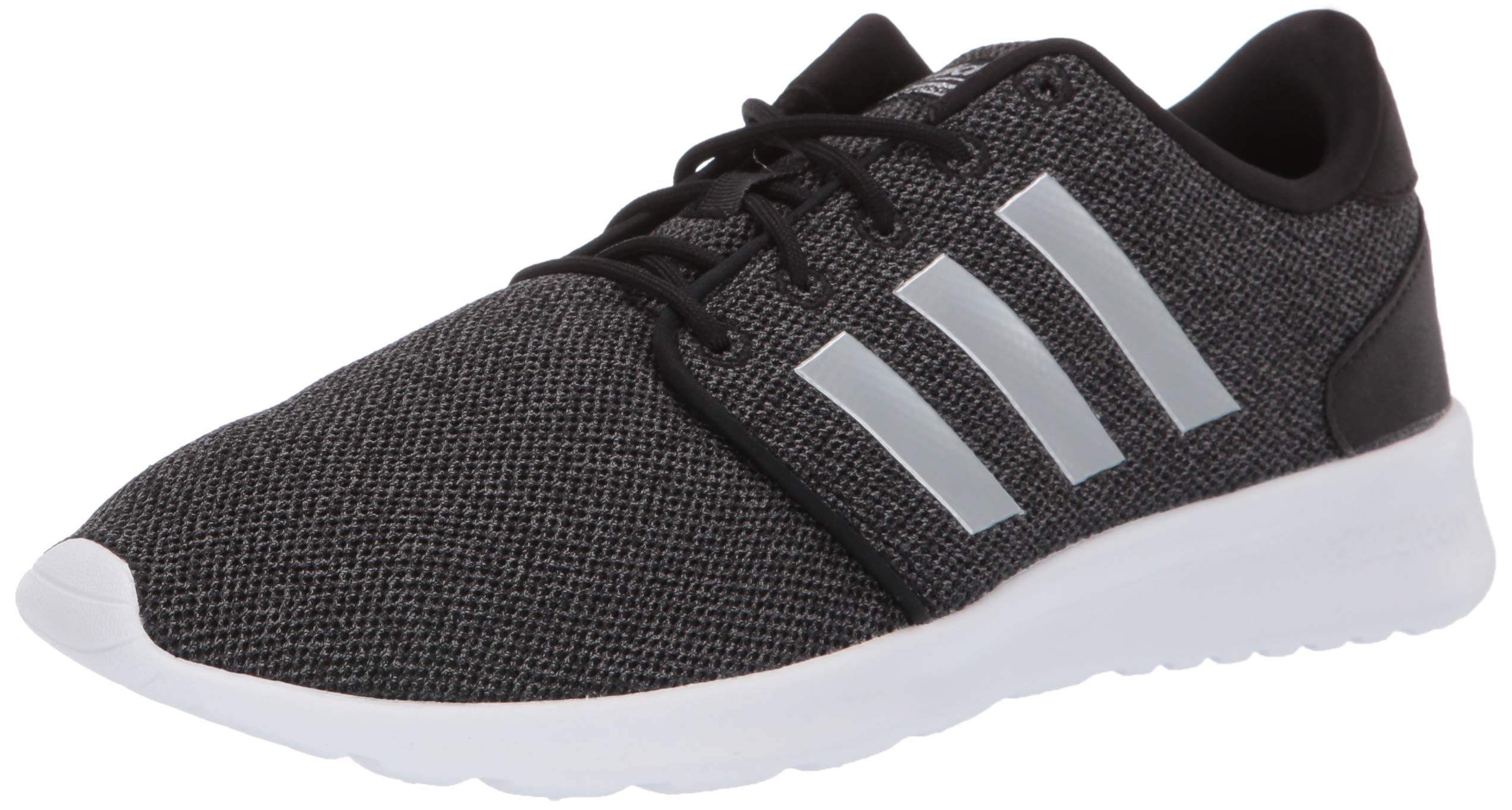 adidas Women's Cloudfoam Qt Racer Sneaker, Black/Silver Metallic/Grey, 5 M US