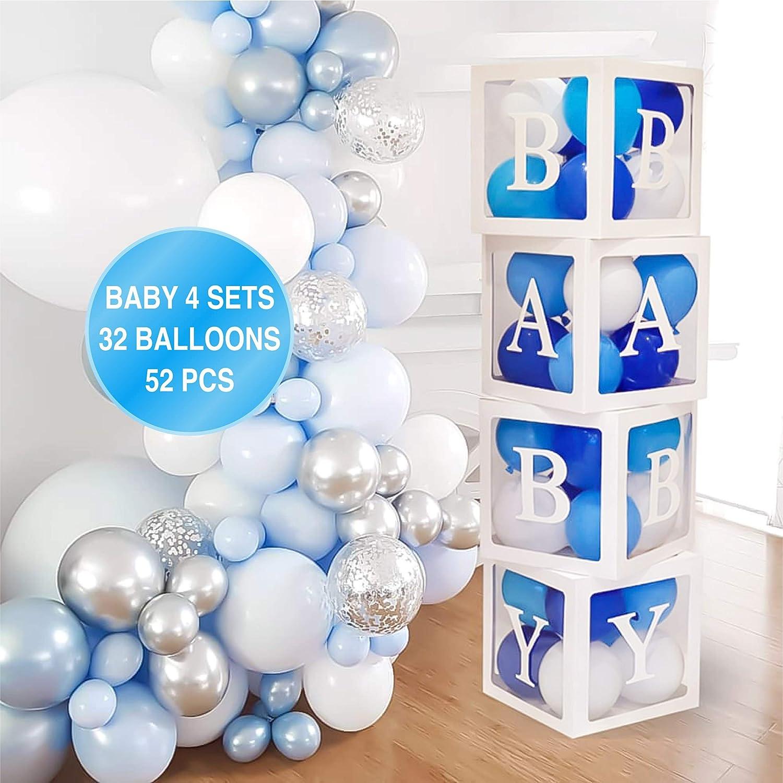 4X Kids Boy Girl Shower Transparent Box Storage Balloon Baby Shower Party Decor